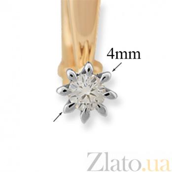 Золотые серьги с бриллиантами Вдохновение VLA--25100