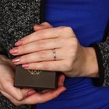 Золотое кольцо Цветочная геометрия с бриллиантами