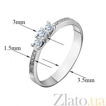 Кольцо из белого золота с бриллиантами Богема EDM--КД7429/1