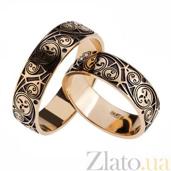 Золотое обручальное кольцо Трискель 2098