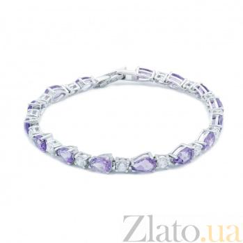 Серебряный браслет с аметистом Виолет AQA--B00085Am