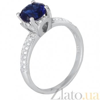 Серебряное кольцо с фианитами Эмилия 000028164