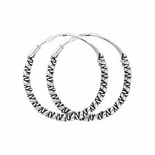 Серьги-кольца из серебра Чармиан