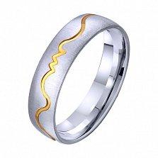 Золотое обручальное кольцо Любовный пульс