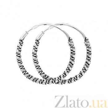 Серьги-кольца из серебра Чармиан 000024699