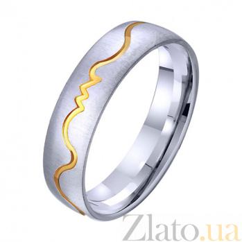 Золотое обручальное кольцо Любовный пульс TRF--421432