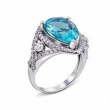 Кольцо Мерилин с голубым кварцем