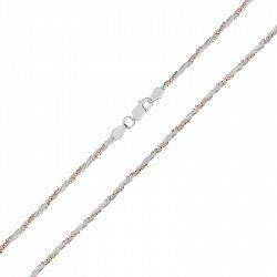 Серебряная цепь с позолотой 000026321