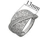 Серебряное кольцо с фианитами Архелая