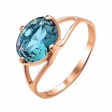 Кольцо из красного золота Вивиан с синим кварцем