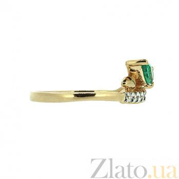 Кольцо в красном золоте Дарина с изумрудом и бриллиантами ZMX--RDE-5596_K