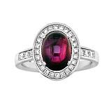 Золотое кольцо с рубином и бриллиантами Мария