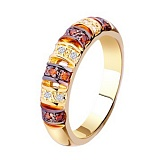 Золотое кольцо с бриллиантами Ариадна