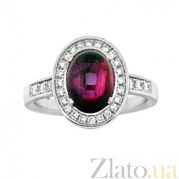 Золотое кольцо с рубином и бриллиантами Мария 000029650