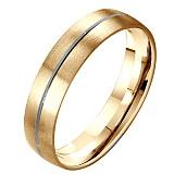 Золотое матированное обручальное кольцо Тропа любви