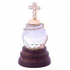 Золотая композиция Благословение с кварцем и бриллиантами
