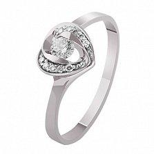 Золотое кольцо с бриллиантами Верное сердце
