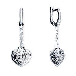 Срібні сережки Любовний орнамент 000043626