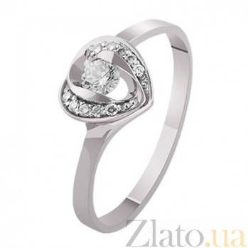 Золотое кольцо с бриллиантами Верное сердце KBL--К1932/бел/брилл