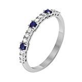 Золотое кольцо с сапфирами и бриллиантами Даяна