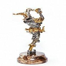 Серебряная статуэтка с позолотой Шут