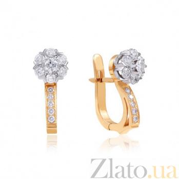 Золотые серьги с бриллиантами Аннабель EDM-С7432