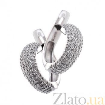 Золотые серьги с бриллиантами Лаки KBL--С2327/бел/брил