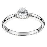 Золотое помолвочное кольцо В окружении любви в белом цвете с бриллиантом 3,3мм