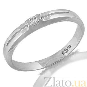 Кольцо в белом золоте Гармония с фианитом 000022973