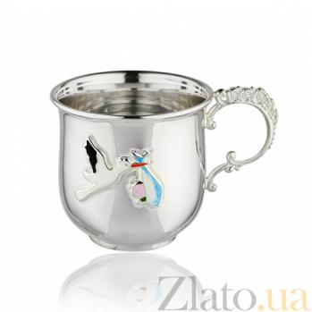 Серебряная чашка Подарок аиста 2.8.0194