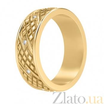 Мужское обручальное кольцо с бриллиантами Благословение небес: Сияние души 714
