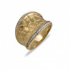Кольцо Белинда  из желтого золота с бриллиантами