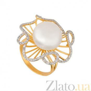 Кольцо из желтого золота Восторг с фианитами VLT--ТТ1169