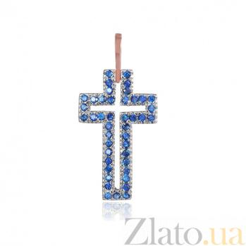 Серебряный крестик с фианитами Джиневра 000028726