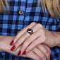 Серебряное кольцо с золотой вставкой и цирконием Ливия Ливия к