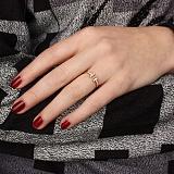 Золотое кольцо Ривьера с цирконием в стиле Тиффани