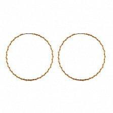 Золотые серьги-кольца Эсмеральда