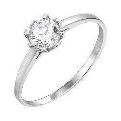 Серебряное кольцо с цирконием 000112722