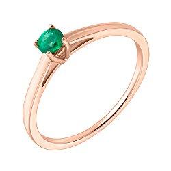 Золотое кольцо Изыск с изумрудом