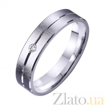 Обручальное кольцо из белого золота Дорога счастья с фианитом TRF--422283