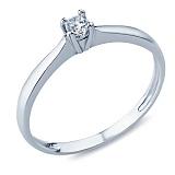 Кольцо из серебра с фианитом Волшебное мгновение