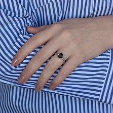 Серебряное кольцо Илона с гранатом и фианитами