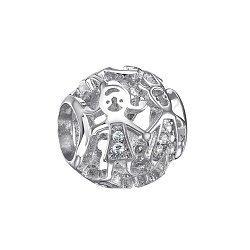 Серебряный шарм Дружба с фианитами 000116431
