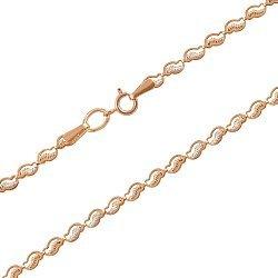 Золотая цепочка в комбинированном цвете фантазийного плетения 000134279