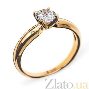 Кольцо из желтого золота с бриллиантом Eleanor R 0561