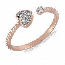Золотое кольцо Pretty Love с бриллиантом