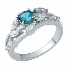 Серебряное кольцо Сьюлин с лондон топазом и фианитами