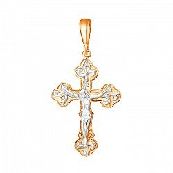 Серебряный крестик Сила веры 000025203