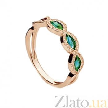 Золотое кольцо с изумрудами Мистерия SG--36117270