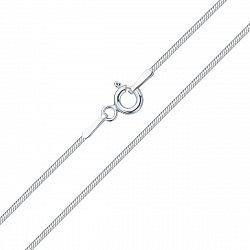 Серебряная цепочка Снейк, 1мм